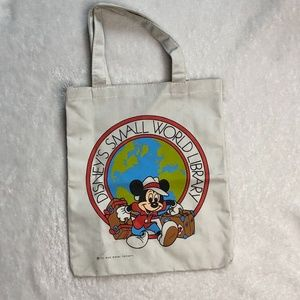 VINTAGE Disney's Small World Library Tote Mickey